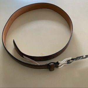 Allen Edmonds NEW Leather Belt 44 Men's Brown